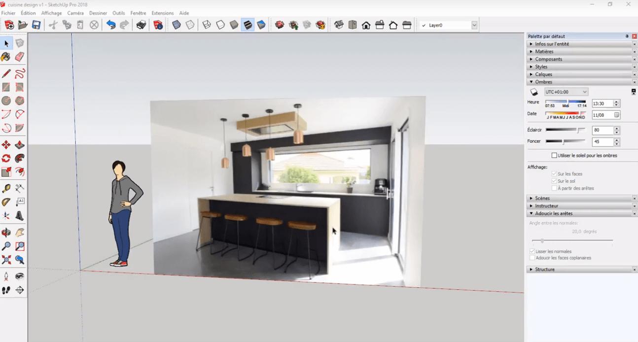 Logiciel Pour Conception Cuisine sketchup : modéliser sa cuisine grâce à la 3d | elmtec