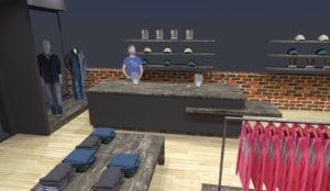 Plan d'une boutique 3D réalisée avec Sketchup