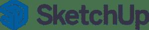 logo Sketchup bleu