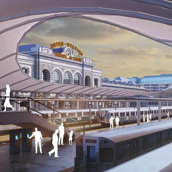 Image de Union Station avec SketchUp et V-Ray