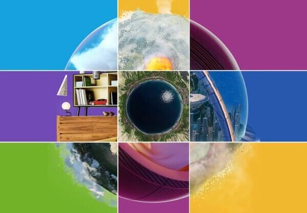 Visuel Chaos d'un œil formé de plusieurs photos et de plusieurs couleurs vives